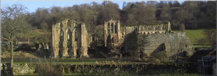Rievaulx Abbey beside the river Rye
